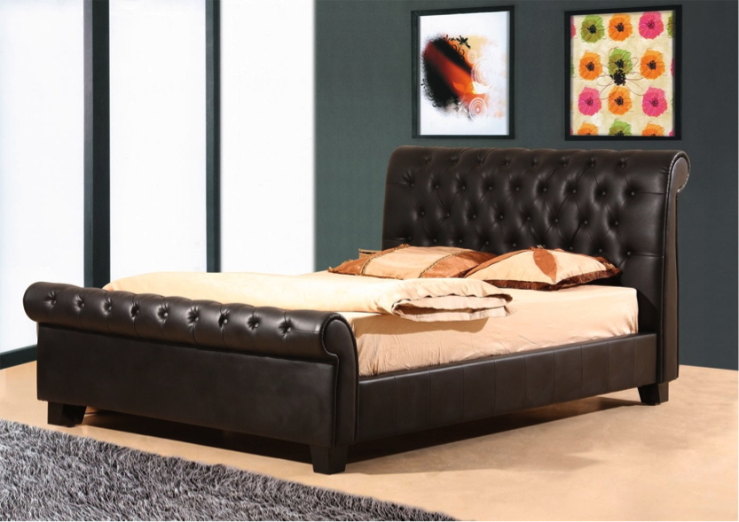 Leather bedrooms designs simple home decoration - Design of bed ...