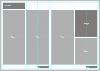 Magazine Layout Wireframe Design