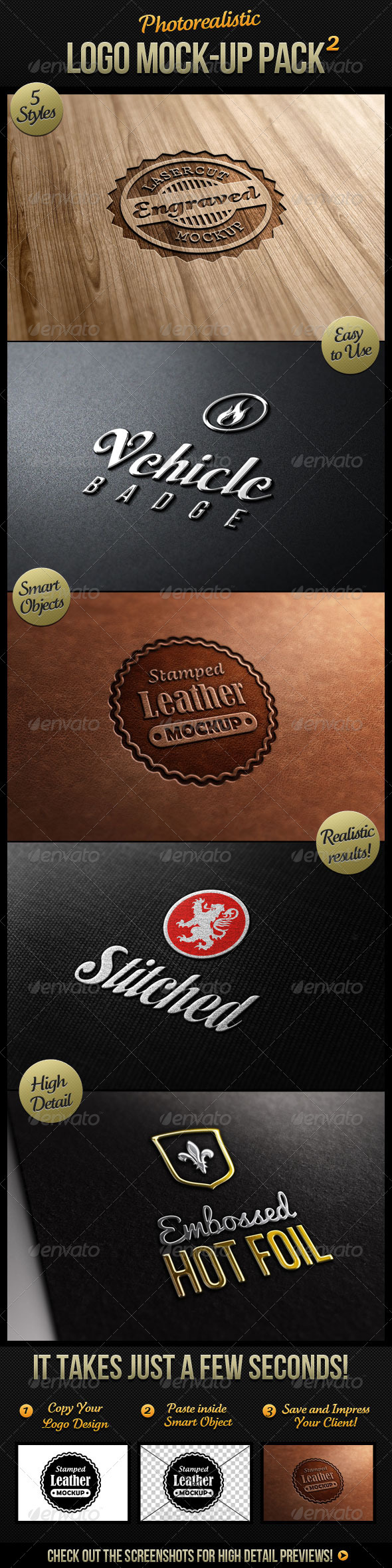1108 10 Premium Realistic Logo Mock Up Downloads